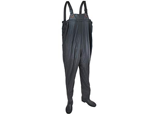 ISO TRADE Wathose Größe 40-46 Anglerhose mit Stiefeln Wathosen Teichhose 408, Größe:42