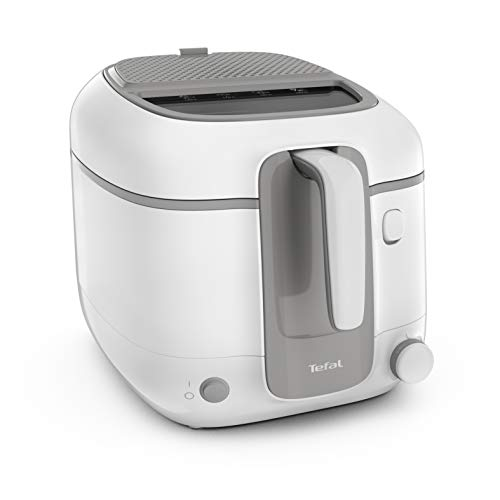 Tefal Fritteuse Super Uno Access FR3100   Kapazität 2,2 L   Spülmaschinengeeignete Teile   Geruchsfilter   Herausnehmbarer Behälter   Weiß/Grau