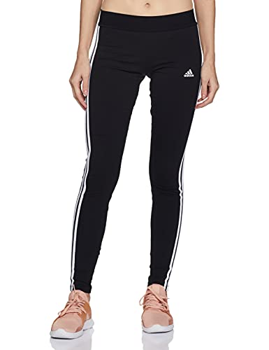 adidas Womens Essentials Legging Tights, Black/White, M