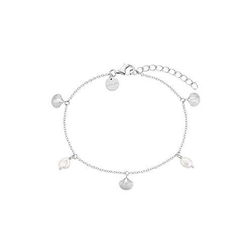 NOELANI Armband für Damen, Sterling Silber 925, Muscheln mit Perle