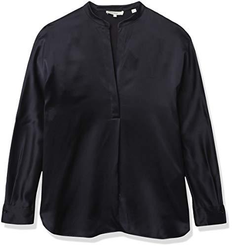 Vince Damen Band Collar Blouse Bluse mit Stehkragen, Küste, X-Klein