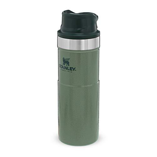 Stanley Trigger Action Travel Mug 0.47L/16OZ Hammertone Green – Auslaufsicher - Thermobecher für Kaffee, Tee & Wasser - BPA-Frei - Edelstahl - Spülmaschinenfest - Lebenslange Garantie
