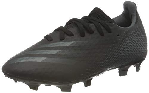 adidas Mens X GHOSTED.3 FG Soccer Shoe, CBLACK/CBLACK/GRESIX,43 1/3 EU