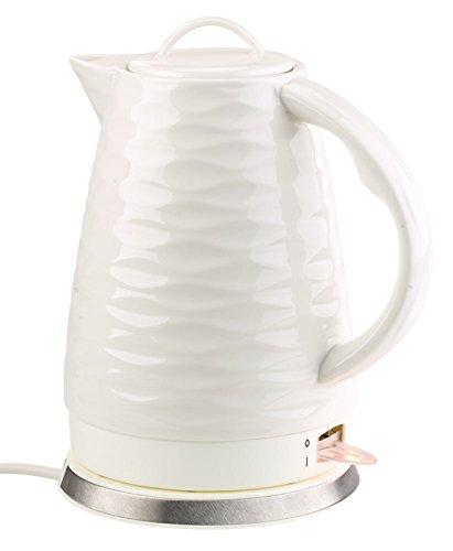 Rosenstein & Söhne Keramik Wasserkocher: Porzellan-Wasserkocher WSK-270.rtr, 1,7 Liter, 1.500 Watt (Wasserkocher im Retro-Design)