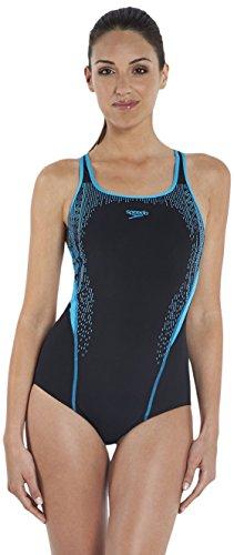 Speedo Damen Badeanzug Women'SpeedoFit Kickback schwarz Black/Adriatic Size 30