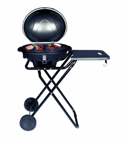 SUNTEC Elektrogrill BBQ-9493 auch als Tischgrill Geeignet | Grill mit Abnehmbarem Deckel und Regulierbaren Thermometer | Ideal für Balkon, Garten, Outdoor und Camping | Barbecue für mehrere Personen egal wo