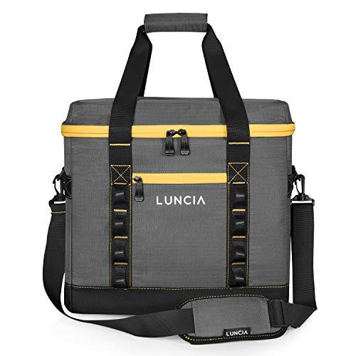 LUNCIA 45L Faltbare Kühltasche, Große Picknicktasche Isoliertasche für BBQ Camping Wandern Strand Picknick Ausflügen Einkaufen Lebensmitteltransport