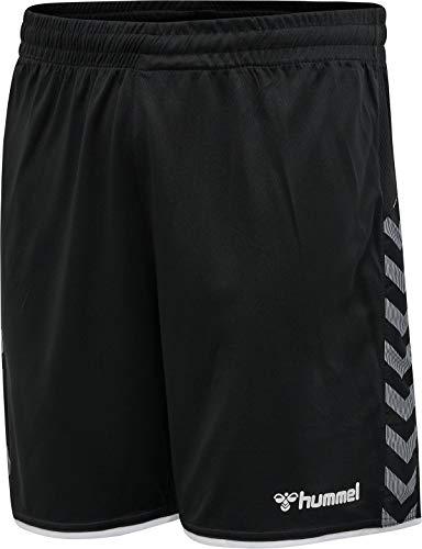 Hummel Herren Hmlauthentic Poly Shorts, Black/White, L EU