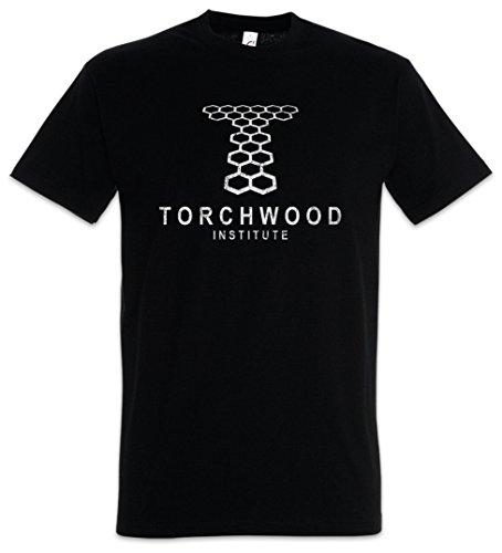 Urban Backwoods Vintage Torchwood Institute Logo Herren T-Shirt Schwarz Größe 4XL