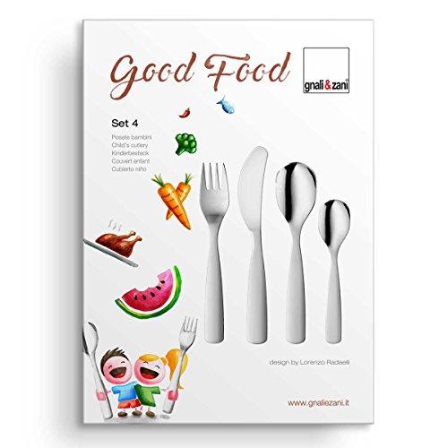 Kinderbesteck - Good Food 4-teilig inkl. Gravur