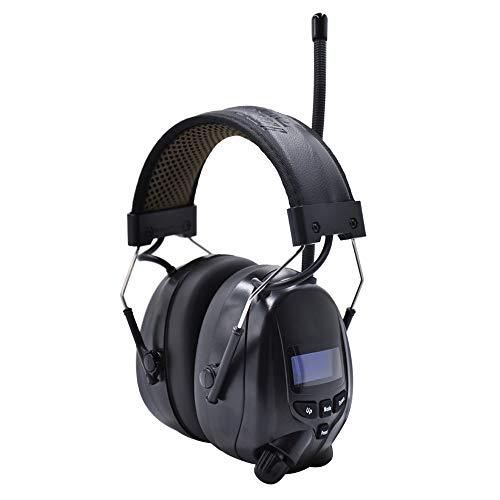 (Aktualisierte Version) Gehörschutz mit DAB + / FM-Radio und Bluetooth 5.0, Rauschunterdrückungs-Headsets mit Lithium-Akku und eingebautem Mikrofon,für Werkstatt, Garten, Mähen, Sägen, SNR 30 dB