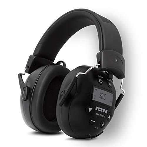 ION Audio Tough Sounds 2 – Noise Cancelling Bluetooth Kopfhörer, lärmreduzierend, wetterfest, batteriebetrieben, 20 Std. Laufzeit, mit Freisprechfunktion und Radio