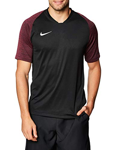 Nike Herren Trainingstrikot Dry Strike, Black/Vivid Pink/White, L, AJ1018