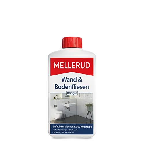 Mellerud Wand & Bodenfliesen Reiniger – Zuverlässiges Mittel zum Entfernen von hartnäckigen Verschmutzungen, Kalkbelägen und Seifenresten – 1 x 1 l