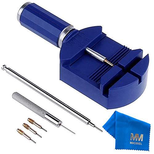 MMOBIEL Uhrenarmband Watch Band Pin Entferner Remover verstellbar Armband BLAU kompatibel mit Uhrmacher