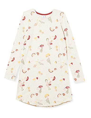 Sanetta Mädchen Sleepshirt beige Nachthemd, Nature Melange, 128