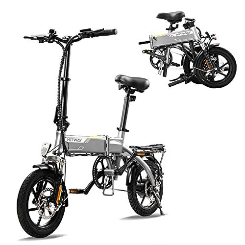 HITWAY Elektrofahrrad E Bike Pedelec Cityräder Klapprad Fahrrad aus Luftfahrtaluminium, 7,5Ah Batterie, 250 W Motor, Reichweite bis 45 km BK3-HW