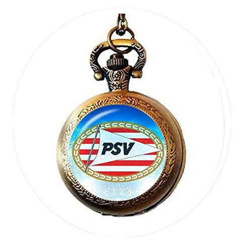 bab Football Club 25 mm Glas Cabochon Halskette Ajax PSV Fußball-Liga Logo Fußball Club Anhänger 3 Taschenuhr Halskette