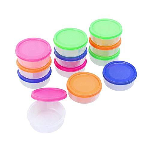 Healifty Aufbewahrungsbehälter für Babynahrung, Mini-Gefrierschranktöpfchen, mikrowellengeeignet, 12 Stück