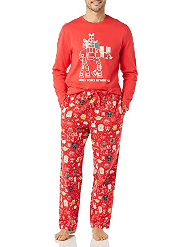 Amazon Essentials Disney Marvel Flannel Pajamas Sleep Pajama-Sets, Star Wars Holiday, L