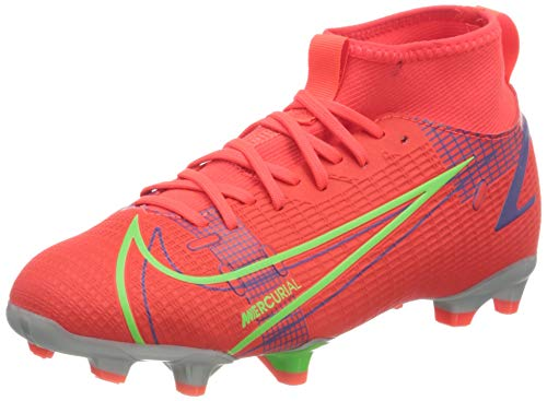 Nike Unisex Kinder Superfly 8 Academy Fg/Mg Fußballschuh, Bright Crimson/Metallic Silver, 37.5 EU