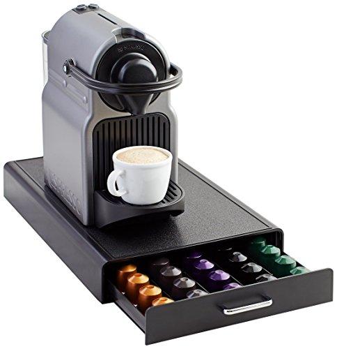 Amazon Basics Schubladenbox zur Aufbewahrung von Nespresso-Kaffeekapseln, Fassungsvermögen: 50 Kapseln