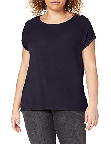 Vero Moda NOS Damen Vmava Plain Ss Top Ga Noos Bluse, Blau (Night Sky), 38 (Herstellergröße: M)