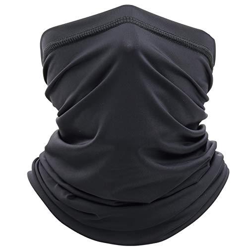 EasyULT Elastisch Schlauchschal, Multifunktionstuch Schnelltrocknend Atmungsaktiv Weich Sonnenschutz Verschleißfest Schlauchtuch Halstuch für Laufen/Wandern(Schwarz)