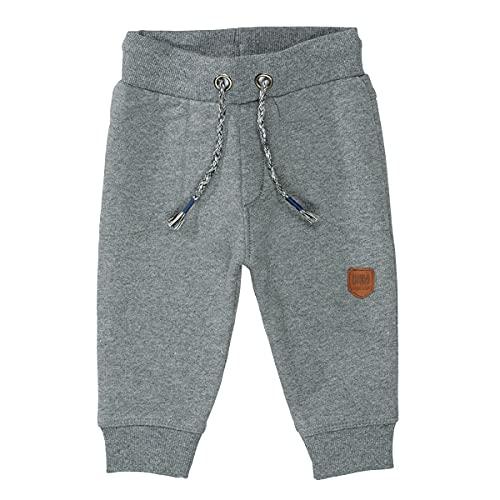 Unisex Baby Jogginghose | Kordelzug Stone Grey Mel. | elastische Rippbündchen Größe 74 für Jungen und Mädchen