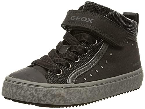 Geox J Kalispera Girl I Hohe Sneaker, Grau (Dk Grey), 37 EU