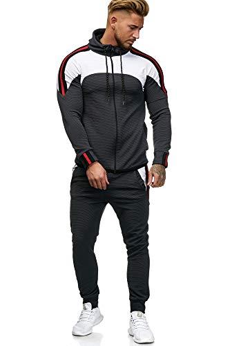 OneRedox Herren Jogginganzug Sportanzug Modell 1148 Antra S