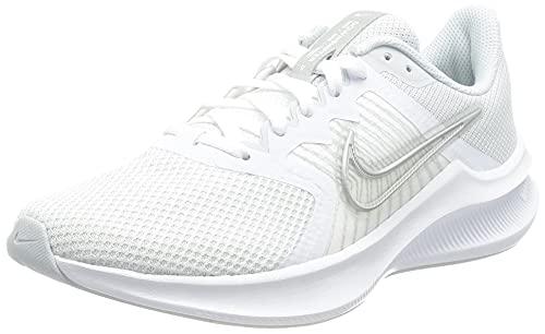 Nike Wmns Downshifter 11, Damen Laufschuhe, Weiß / Mtlc Silver-Pure Platinum-Wolf Grey, 39 EU