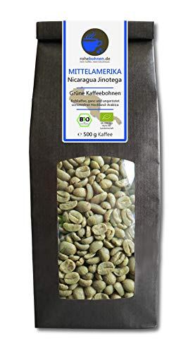Bio Rohkaffee - Grüner Hochland Kaffee Nicaragua Jinotega (grüne Kaffeebohnen 500g)