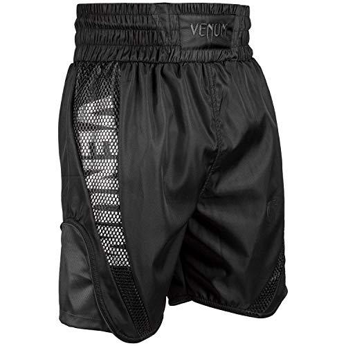 Venum Elite Boxen Shorts, Schwarz/Matte, L
