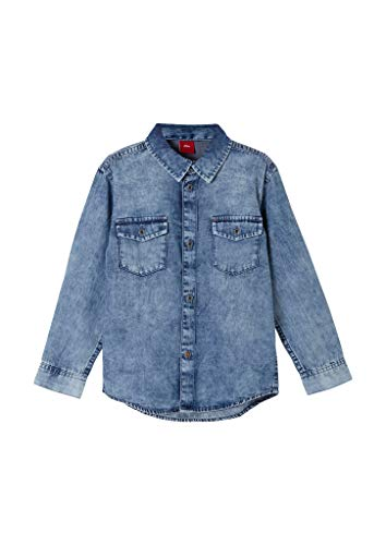 s.Oliver Junior Jungen 404.10.103.11.120.2061037 Hemd, Blue, 128/134