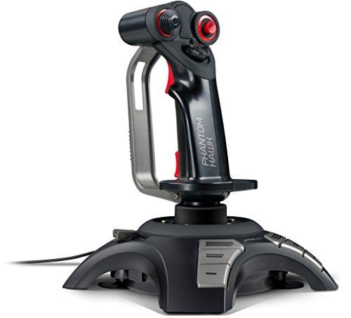 Speedlink PHANTOM HAWK Flight Stick - Joystick für PC/Computer - Controller für Simulator-Spiele - USB - schwarz