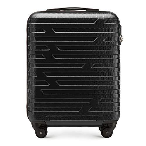 WITTCHEN Koffer – Handgepäck | hartschalen, Material: ABS | hochwertiger und Stabiler | Schwarz | 38 L | 54x39x23 cm