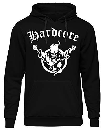 Hardcore Kapuzenpullover | Hard Harder Hardstyle | Musik | Electro | Minimal | Deejay | Männer | Rock | Pop | Herren | DJ | M1 (L)