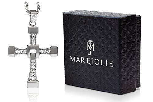Kreuz Kette aus rostfreiem Edelstahl in Silber von Marejolie