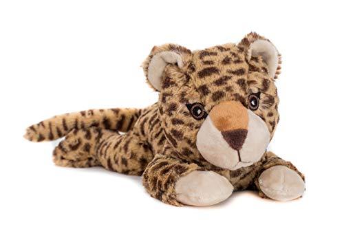 Habibi Plush Premium –1850 Baby Leopard, mit herausnehmbarem Körnerkissen - Wärmestofftier/Wärmekissen zum Erwärmen in der Mikrowelle/Backofen