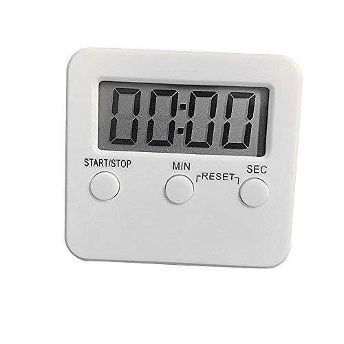 Eieruhr Stoppuhr Mit Lauter Alarm und Großes Display,Zeitschaltuhr Digital Küche Timer Magnetische Kochen Countdown-Alarm Schlaf Stoppuhr Uhr Home Multifunktionale Werkzeuge Küchentimer Digital (Weiß)