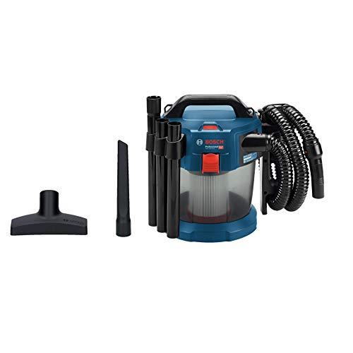 Bosch Professional 18V System Akku Nass-/Trockensauger GAS 18V-10 L (ohne Akkus und Ladegerät, mit Flachfaltenfilter, Bodendüse, Fugendüse, 1,6 m Schlauch, Volumenstrom bis zu 24 l/sec (Turbine))