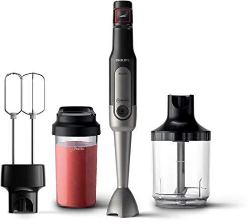 Philips Stabmixer Viva HR2653/90 (800W, SpeedTouch, inkl. 2-in-1 ToGo Trinkflasche, Zerkleinerer, Handmixeraufsatz)