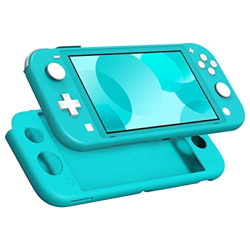 MoKo Hülle Kompatibel mit Nintendo Switch Lite, Schützhülle Silikon Switch Lite Tasche rutschfest Stoßfest Ultradünn Case Zubehör für Switch Lite Konsole und Controller - Türkis