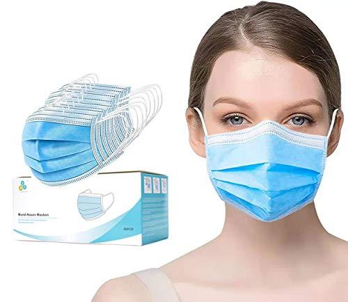 Mund und Nasen Masken 50 Stk Mundschutz Maske 3-Lagig aus Vlies Schutzmaske Alltagsmasken CALIYO®ANETHESIA® zum allgemeinen Gebrauch