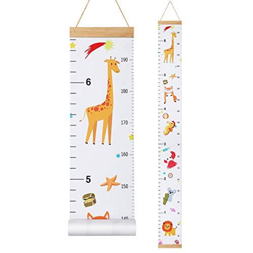 STOBOK Messlatte Kind Dekorative Messlatten Kinder Höhenmessung für Baby Mädchen Kleinkind Kinderzimmer 200cm x 20cm