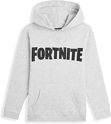 Fortnite Hoodie, Schwarz Hoodie Kinder, Jungen Pullover mit Kapuze, Bequem und Warm Hoodie Jungen für Videospieler, Geeignet für Kinder und Teenager, Geschenke für Videogames Fans (Grau, 14_Years)