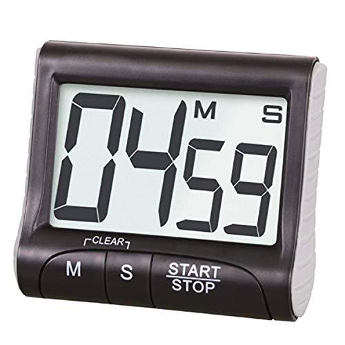 Aischens Digitaler Timer und Stoppuhr, Digitaler Küchentimer Magnetisch, Eieruhr - Timer, Digitaler Küchentimer mit Timer-und Stopp-Uhr-Funktion (Befestigung via Magnet, Clip, Hänger oder Aufsteller)