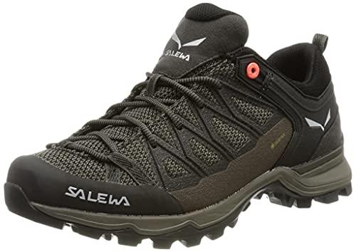 Salewa WS Mountain Trainer Lite Gore-TEX Damen Trekking- & Wanderstiefel, Braun (Wallnut/Fluo Coral), 39 EU