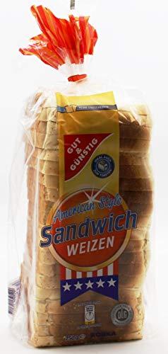 Gut und Günstig American Style Sandwich Toast, 5er Pack (5 x 750g)